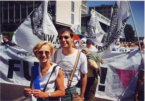 Emma Bonino al World Pride di Roma (2000)