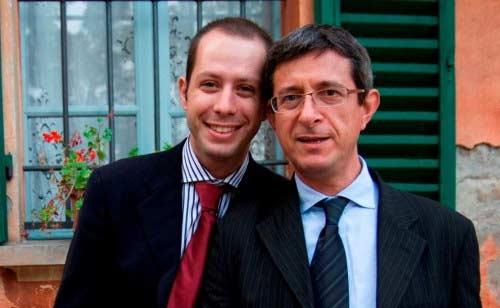 Sulla destra Sergio Lo Giudice col marito