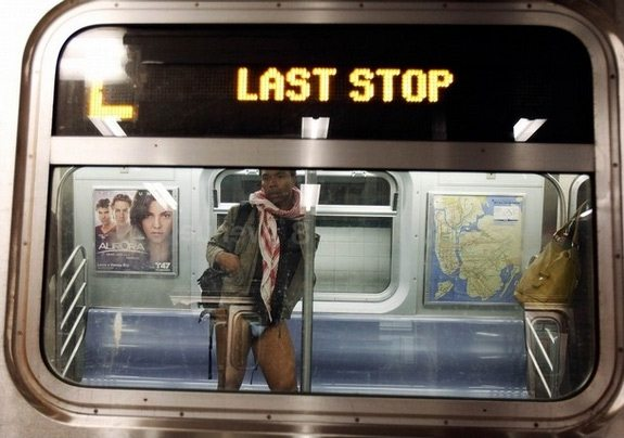 Tutti in mutande nella metro di New York