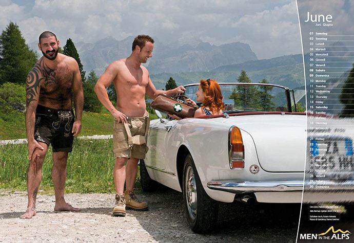 Tornano gli Uomini sulle Alpi con il loro calendario sexy
