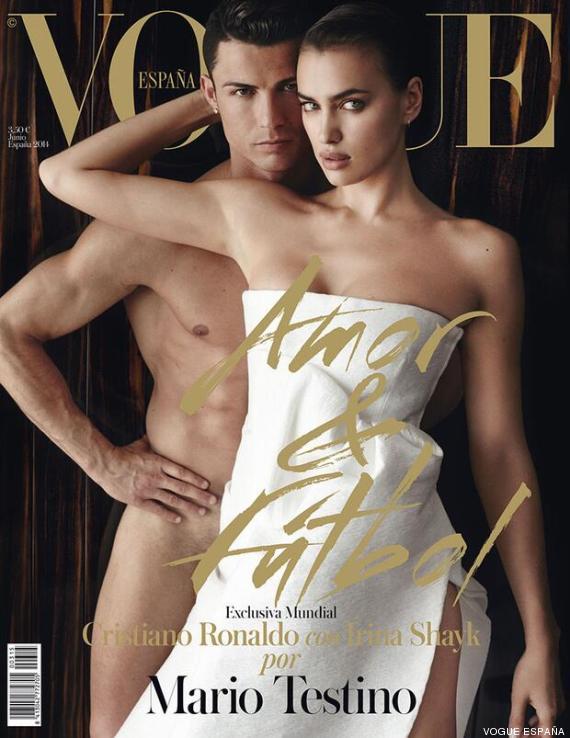 Cristiano Ronaldo e Irina Shayk sulla copertina di Vogue