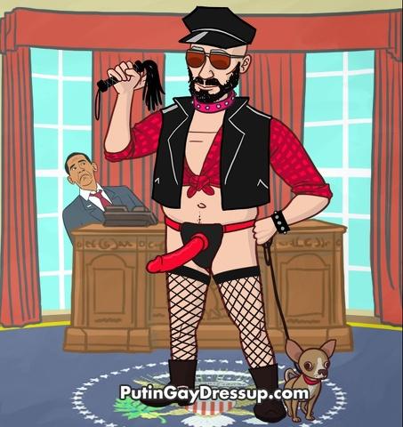 Vesti Putin in versione gay