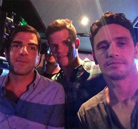 Sesso a tre per James Franco, Zachary Quinto e Charlie Carver