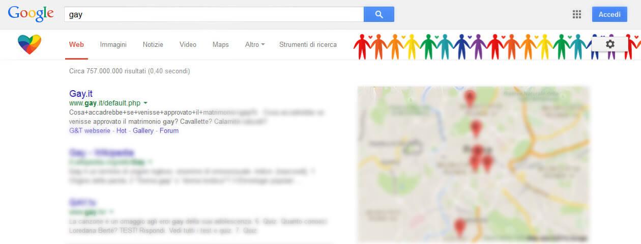 Google celebra il mese dell'orgoglio con un Easter egg