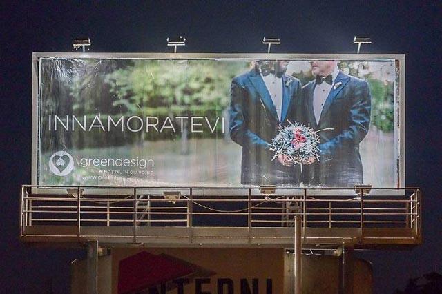Innamoratevi: la pubblicità per il matrimonio egualitario a Terni