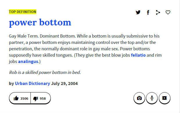 Define power bottom