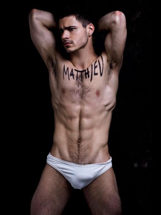 Matthieu_Charneau_Sexy_Model_bulge_white_underwear