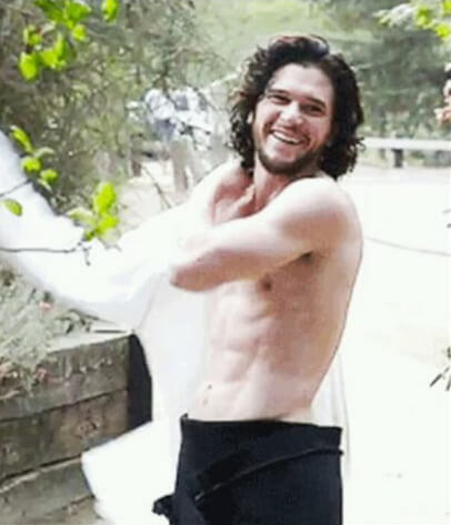 Il bellissimo Kit Harington protagonista di Game Of Thrones