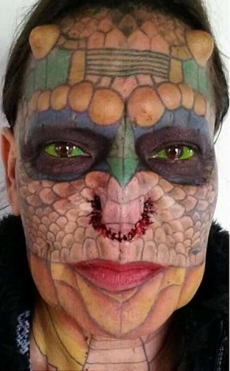 Trans-Dragon: donna trans si rifà tutta per assomigliare a un dragone