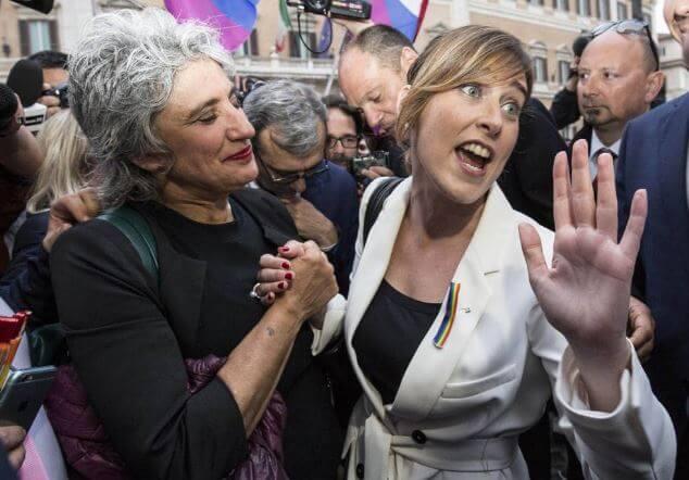 unioni_civili_sit_in_montecitorio_boschi_concia