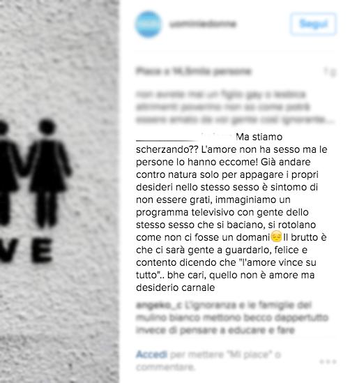 Ecco alcuni insulti omofobi al trono gay di Uomini e Donne