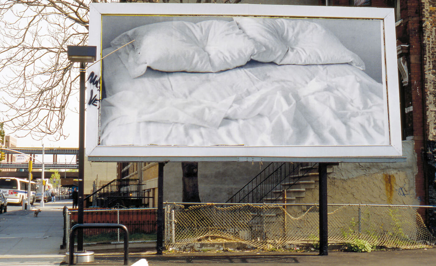 """Untitled"" Billboard of an Empty Bed), 1991 - © The Felix Gonzales-Torres Foundation, New York"