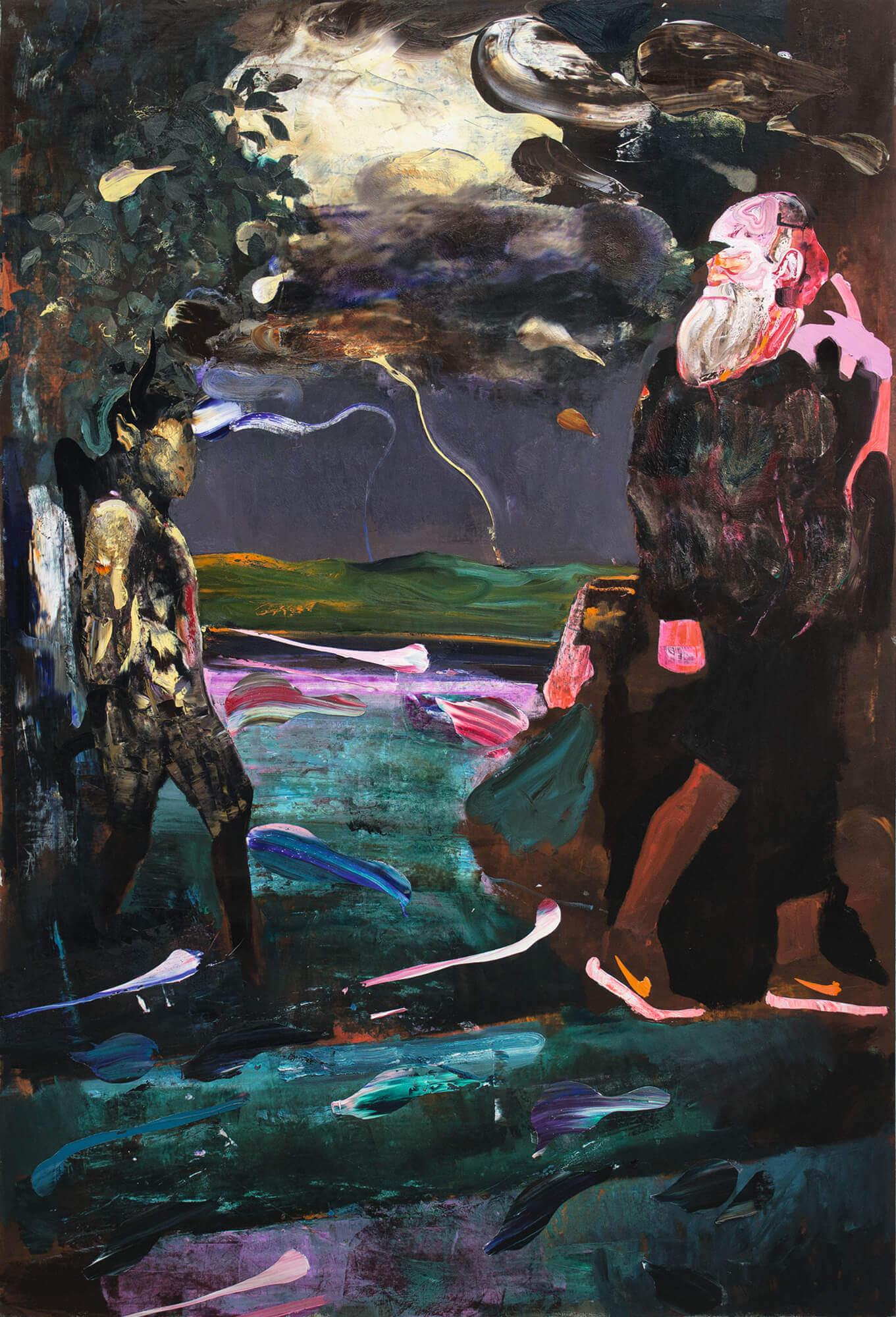 03-Adrian-Ghenie-Darwin-and-the-Satyr-2014