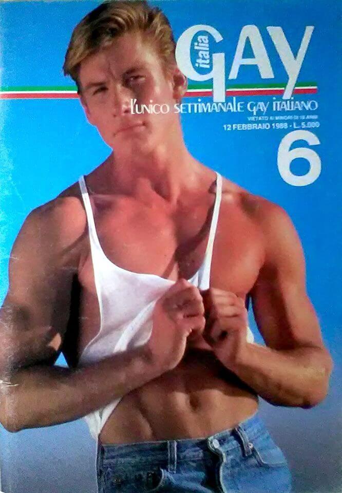 "Numero del febbraio 1988 della rivista erotica ""Italia gay""."