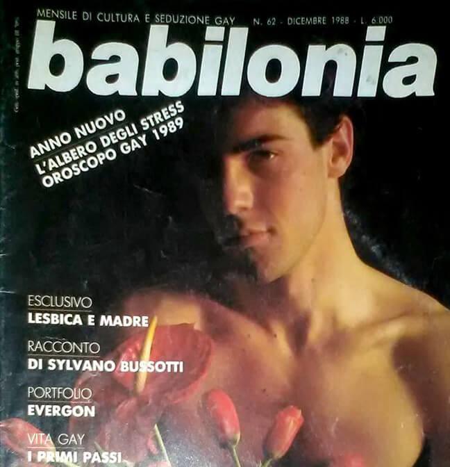 """Copertina di """"Babilonia"""", numero 62, dicembre 1988."""