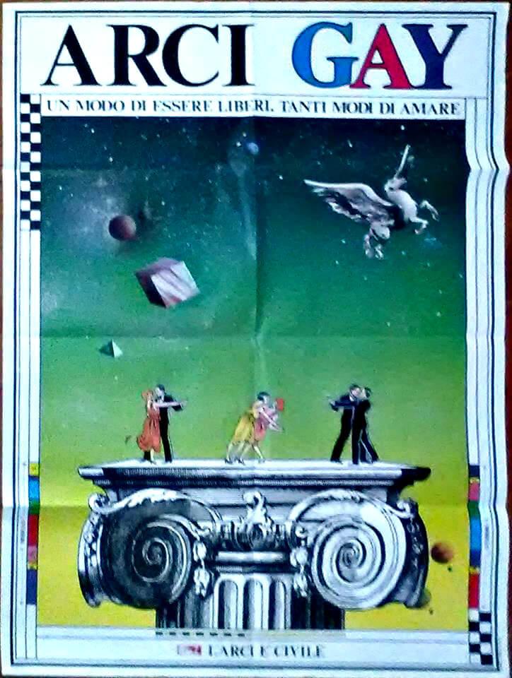 Un poster di Arcigay.