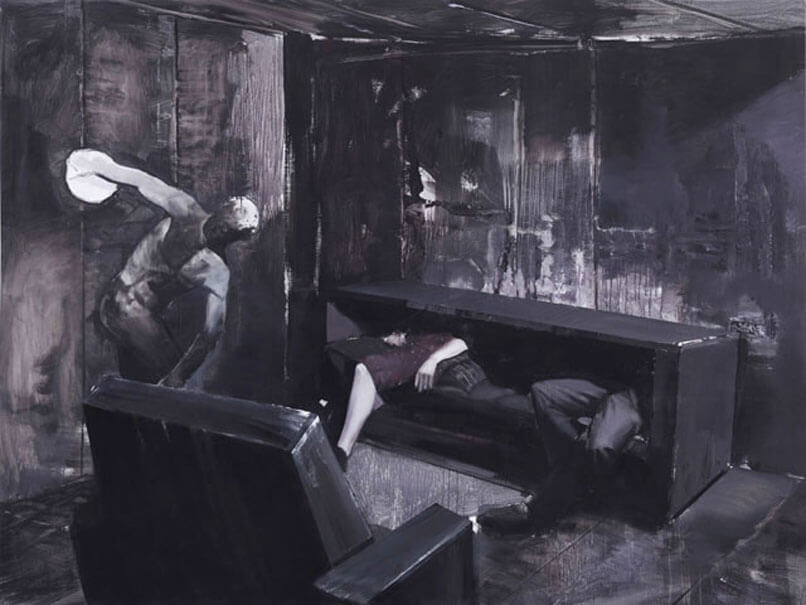 Adrian Ghenie, That Moment, 2007, Oil on canvas, 17.5 x 23 cm, © Adrian Ghenie.