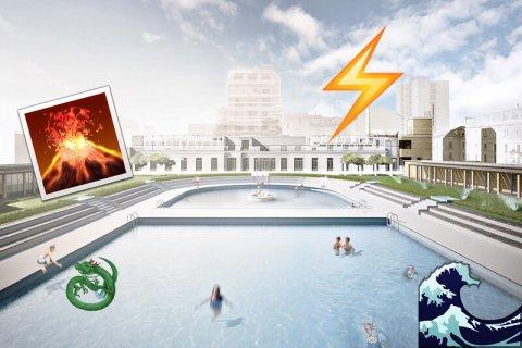 Il caso dei bagni misteriosi di milano la piscina senza for Piscina x cani milano