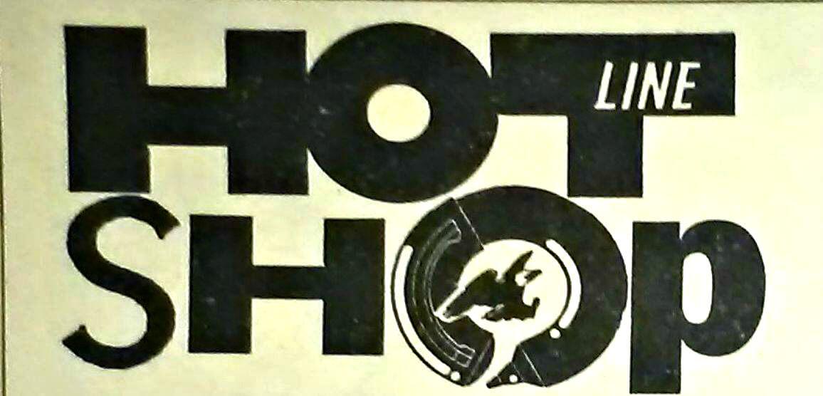 """Logo dell'Hotline Shop, il primo negozio gay di vendita per corrispondenza di libri, riviste e merchandising in Italia. Aprì poco l'uscita del primo numero di """"Hotline"""", ad inizio 1991."""