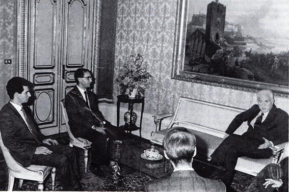 Il presidente della Repubblica Francesco Cossiga riceve una delegazione dell'Arcigay.