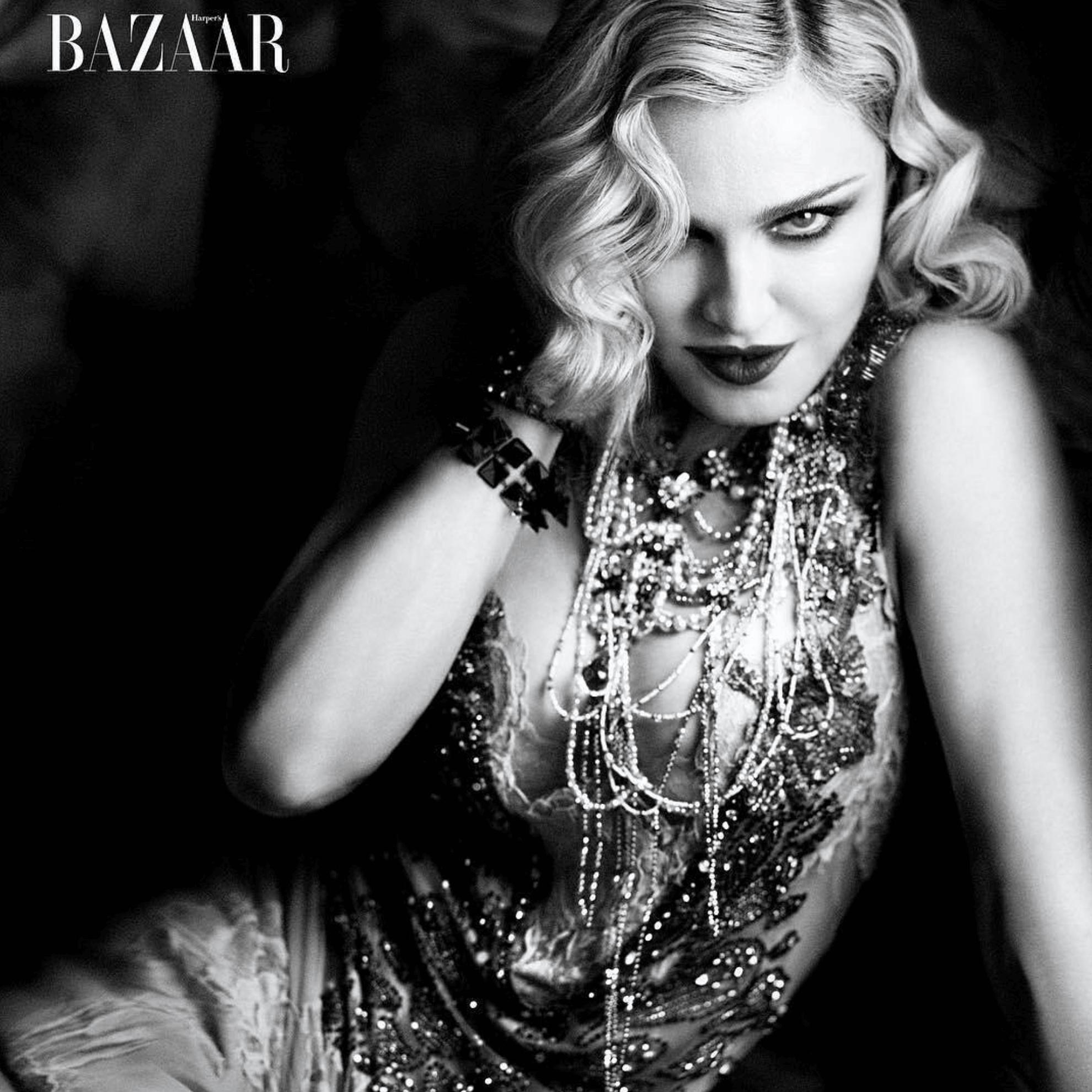 Madonna in copertina per i 150 anni di Harper's Bazaar