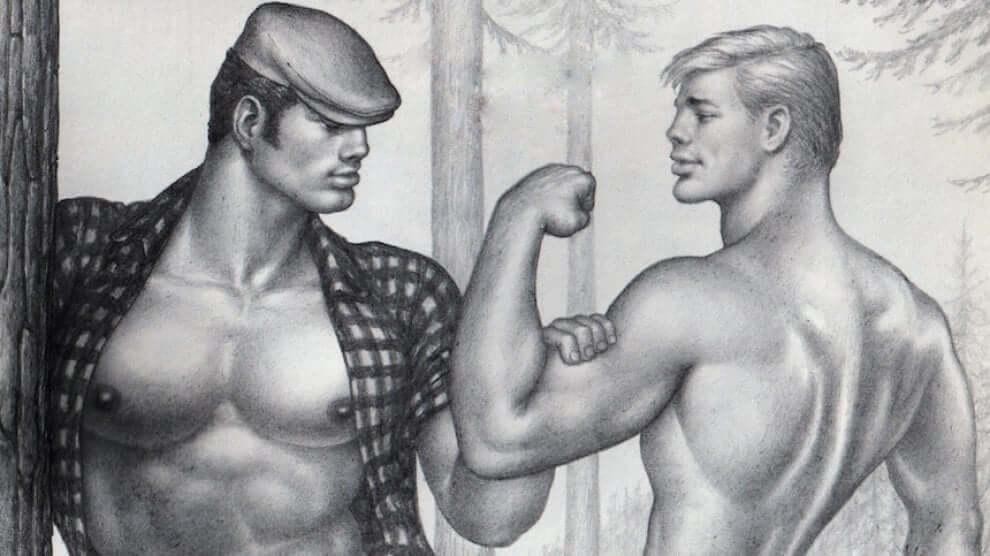 Tom of Finland, i suoi disegni di uomini muscolosi e peni enormi in mostra a Bologna