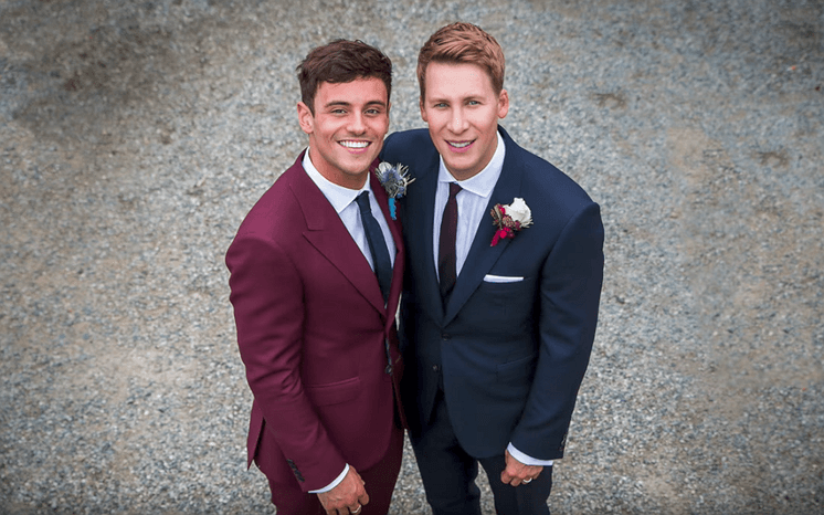 Tom Daley e Lance Black