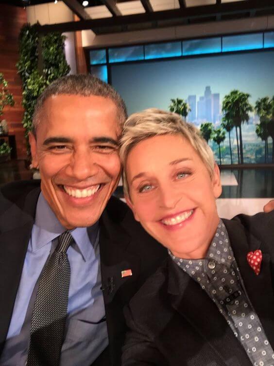 Ellen e Obama