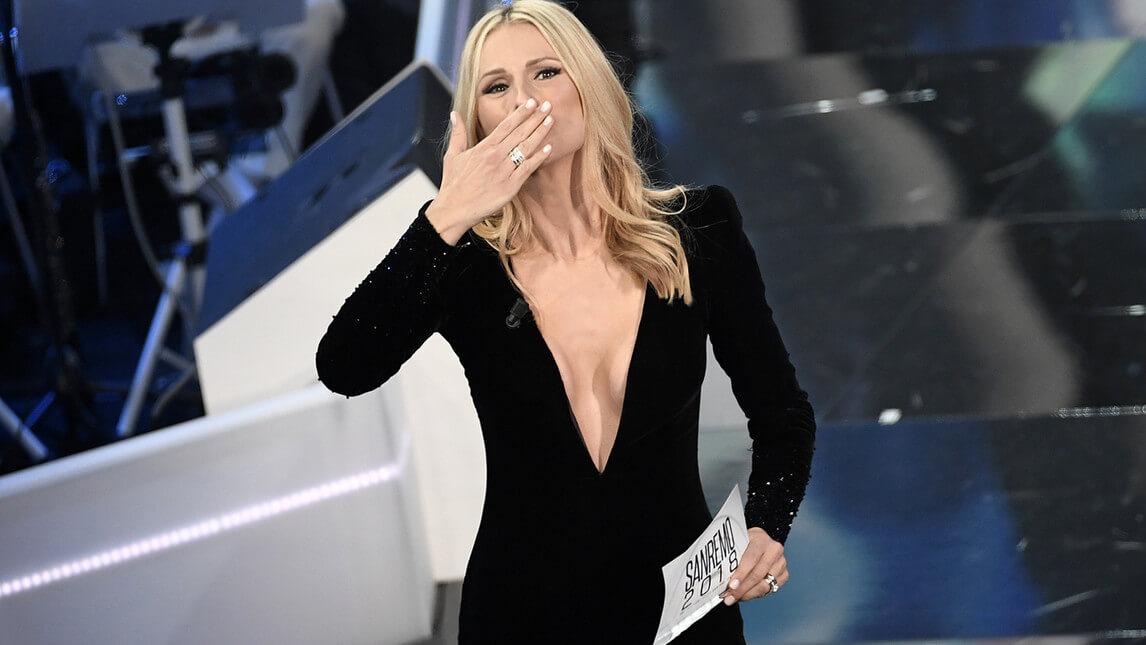 Michelle Hunziker a Sanremo