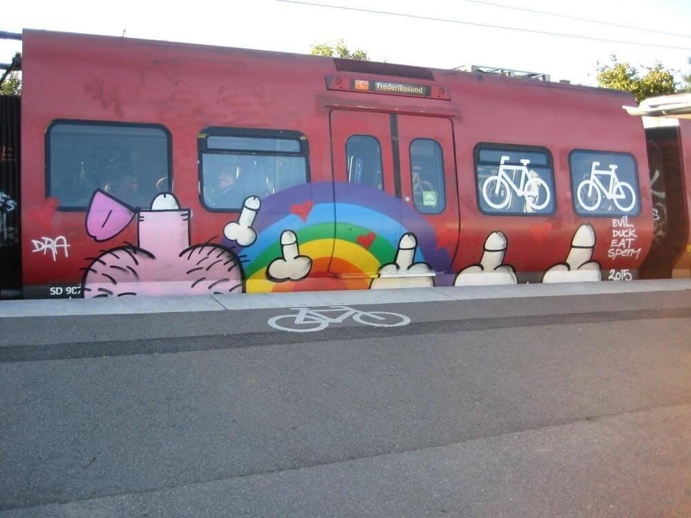 Street gay art Copenaghen