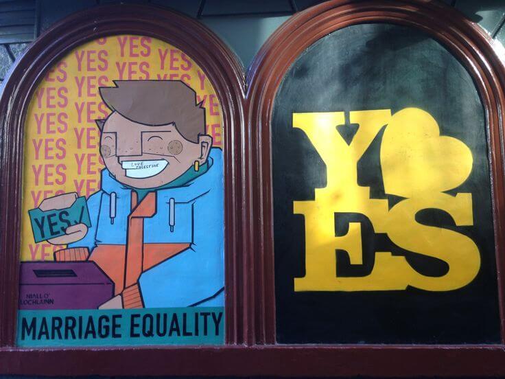 Street gay art Dublino