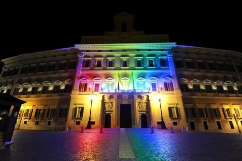 italia camera dei deputati rainbow arcobaleno montecitorio