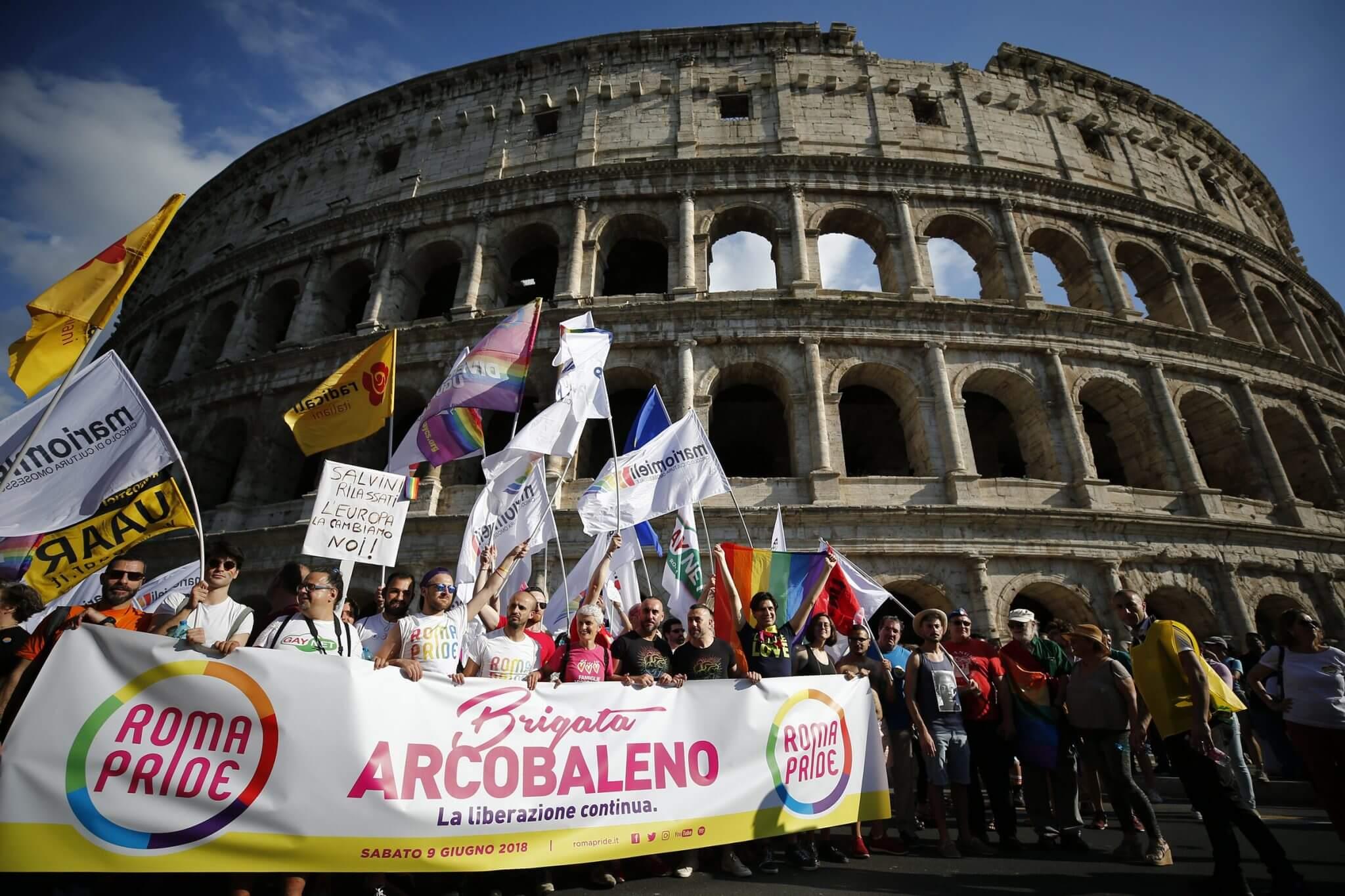 roma pride brigata arcobaleno