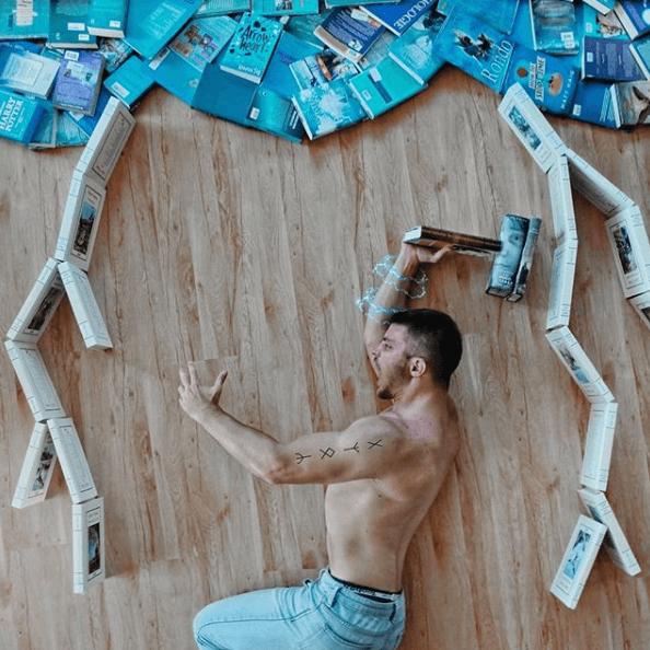 James Trevino e la sua libreria