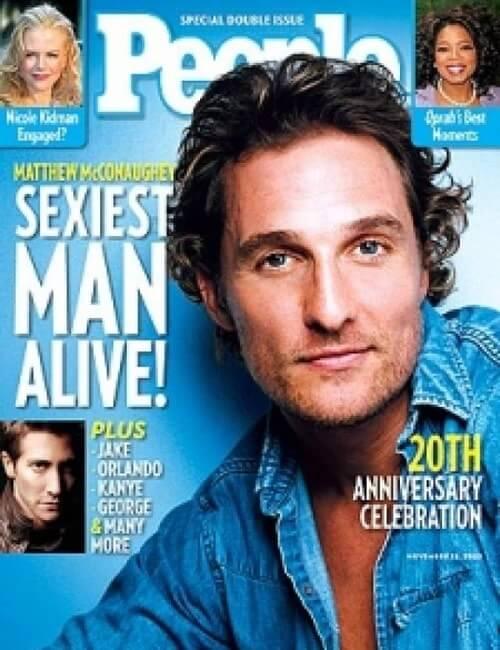 Sexiest Man Alive - Matthew McConaughey