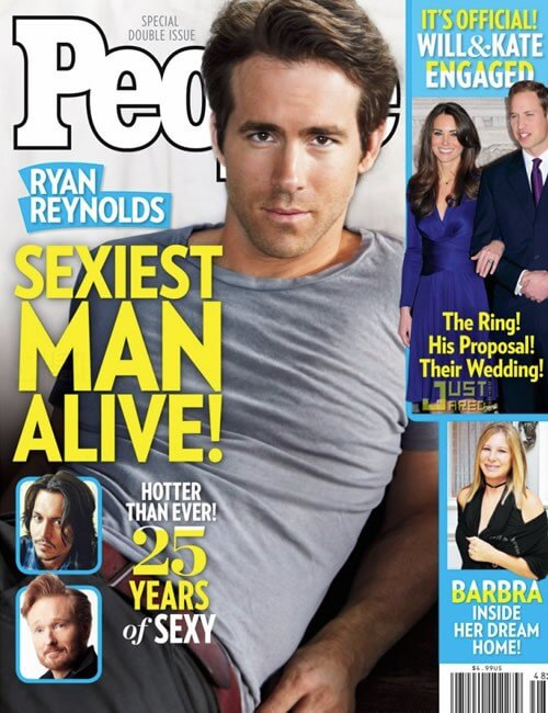 Sexiest Man Alive  - Ryan Reynolds