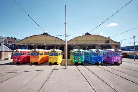 tram rainbow