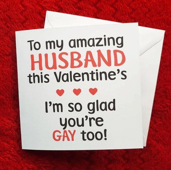Il biglietto di San Valentino gay-friendly